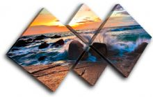 beautiful rocks Sunset Seascape - 13-0169(00B)-MP19-LO